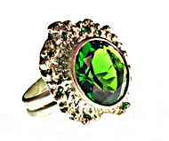 Dafna Podluby - Xmas Lights Collection Rings - Emerald & Sterling Silver with Emerald Detailing