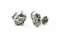 MICHELLE DELVILLE MENS CUFFLINKS Sterling Silver Japanese Gold of Wealth