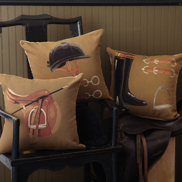Red Scarf - Equestrian Pillows in 3 Distinctive Styles