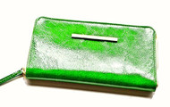 CHRISTINA CASTILLO - Candy Colors leather original Wallet or Clutch (Lime Green)