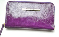 CHRISTINA CASTILLO - Candy Colors leather original Wallet or Clutch (Purple)