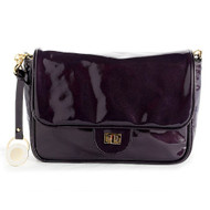 CHRISTINA CASTILLO - The Patent Leather Dauphine Clutch ipad/tablet (Dark Plum)