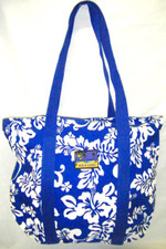 Hula Lulu Canvas hawaiian tote Royal Blue