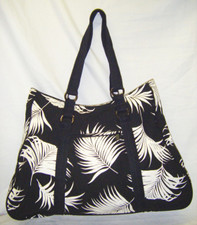 Island Palm Black Tote