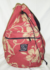 Hawaiian print canvas Sling Bag Red