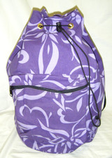 Hawaiian print canvas sling bag Purple