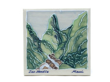 Ceramic Tile - Mauis' Iao needle