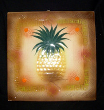 Decorative Pineapple Tile Brown