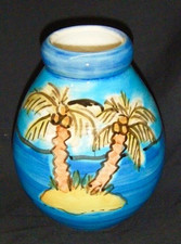 Two Hawaiian Palms Vase