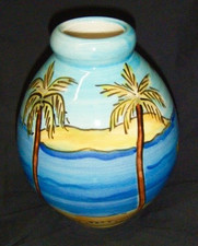 Four Hawaiian palms Vase