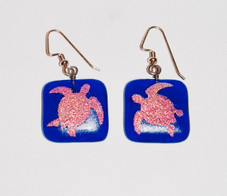 Hawaiian Art Glass Honu Earings
