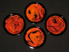 Madame Pele Coasters , set of 2