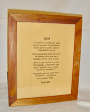 Hawaiian Koa Wood Frame- 8 X 10-  1inch rounded
