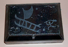 FIRED GLASS RAKU BOX - outrigger