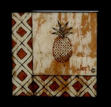 COASTER - TAPA - PINEAPPLE