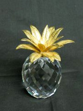 Crystal Pineapple w/ Gold Top - XLarge