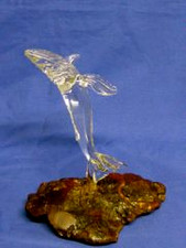 GLASS SCULPTURE JUMPING WHALE
