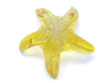 Glass Starfish - Yellow