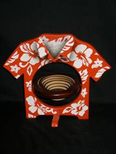 ALOHA SHIRT BASKET- RED