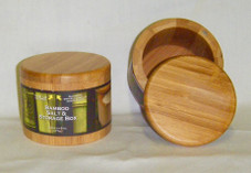 BAMBOO SALT BOX - ROUND