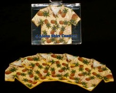 COASTERS - ALOHA SHIRT - PINEAPPLE
