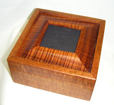 "BOX - PETRO TILE RAISED 5"" SQUARE CURLY KOA"