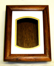Koa box with glass picture frame lid