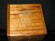 Hawaiian Box -Koa with Gold Pineapple Inlay