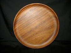 Hawaiian MONKEY POD PLATE - ROUND DINNER
