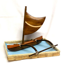 Hawaiian Outrigger Canoe- Monkey Pod