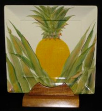 Hawaiian Pineapple Square Plate