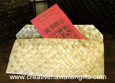 Hawaiian Woven Lauhala Holder Envelope