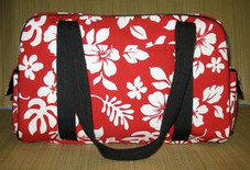 Hawaiian TRAVEL -Paradise Retro Travel Bag- Red/White