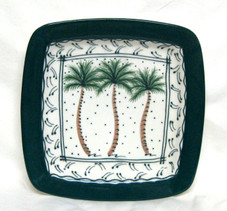 Ceramic Plate with Palm design