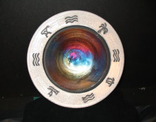 Hawaiian Raku Petro Bowl 8""