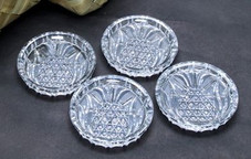 Crystal Pineapple coaster set