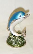 Jeweled Dolphin Box Blue