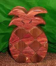 Wooden Pineapple puzzle Box