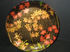 Sprays Of Orchids Plate