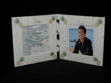 Hawaiian Pineapple Diploma style mini double frame