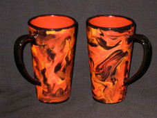 Madame Pele Ceramic lava coffee mug