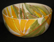 Hand Painted Bird Of Paradise Calabash