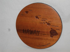 Koa Coaster Set - Hawaiian Islands