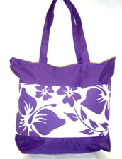 Purple Aloha Tote Bag