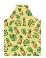 Hawaiian Print Apron Pineapple