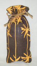 Palm Print Jute Wine sac