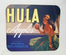 Vintage Hawaii Mouse Pad Hula Apples