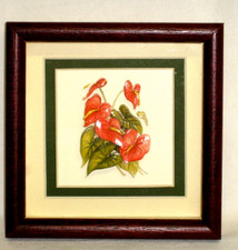 3-D Framed Art, Hawaiian Anthirium