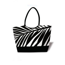 Hawaiin Resort Tote   Black Palm Frond