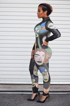 Jadori Crystal Bodysuit